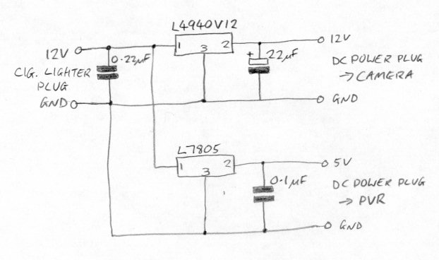 Mr2 in car video camera regulator circuit diagram ccuart Image collections